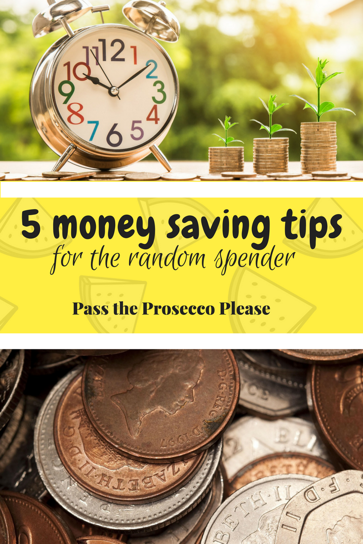 5 money saving tips for the random spender - #moneysaving #budget #budgeting #moneysaver