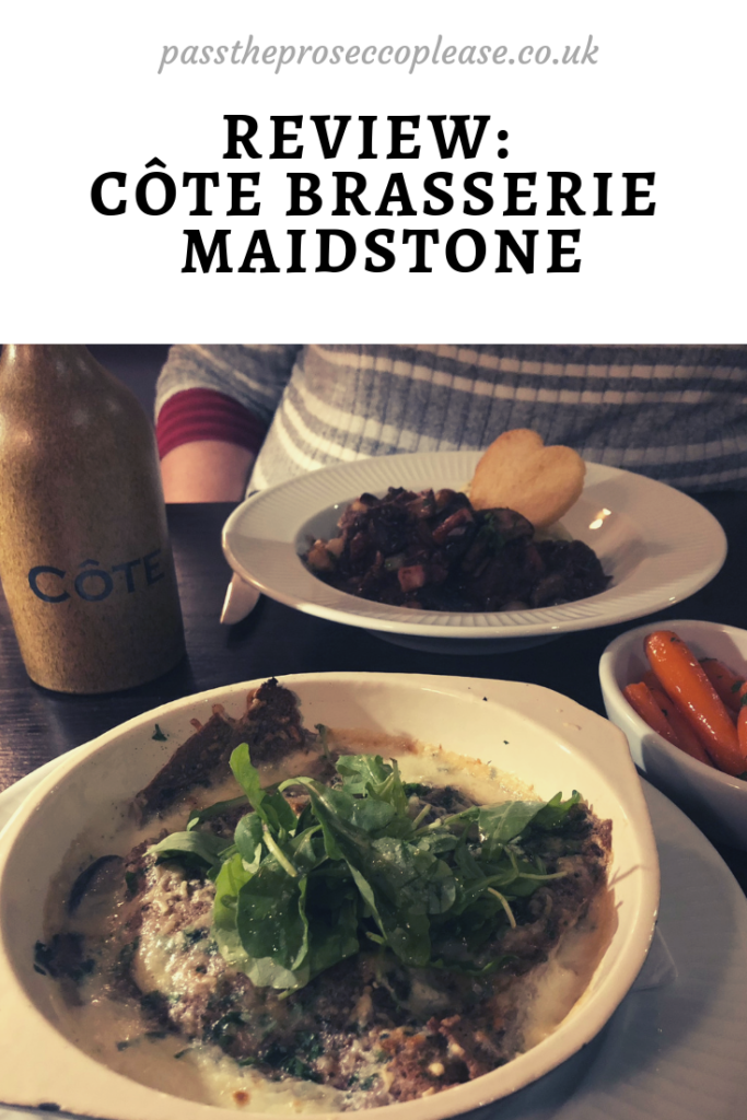 Review: Côte Brasserie, Maidstone (French Cuisine Kent)